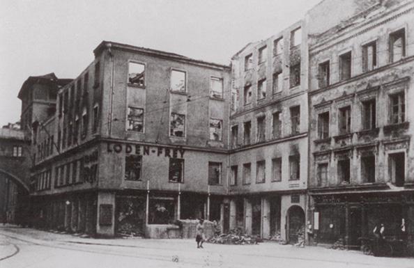 Zerstörung Verkaufshaus