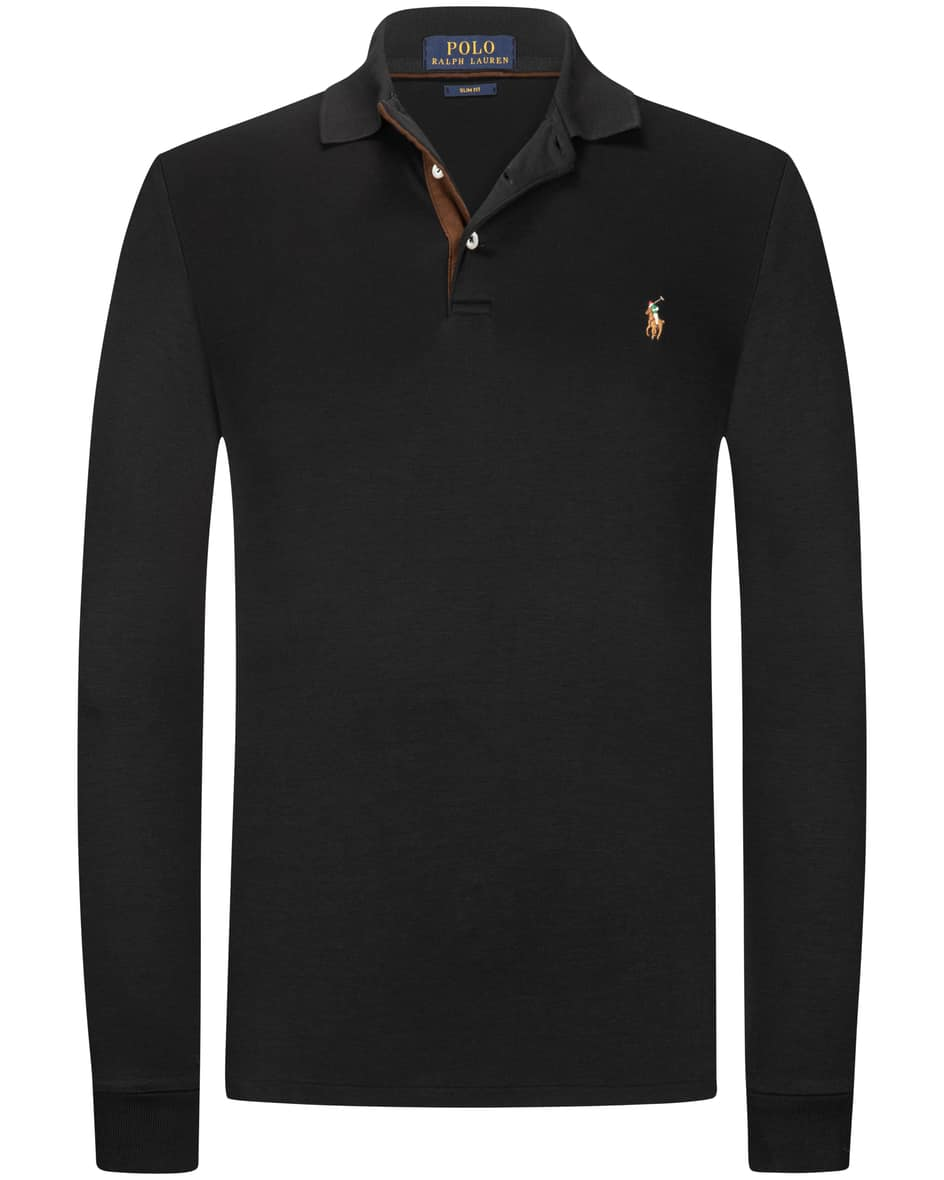 Langarm-Polo Slim Fit S
