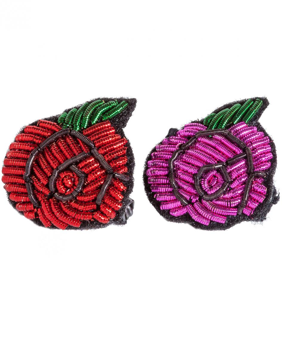 Pin Rose Anstecknadeln 2er-Set Unisize