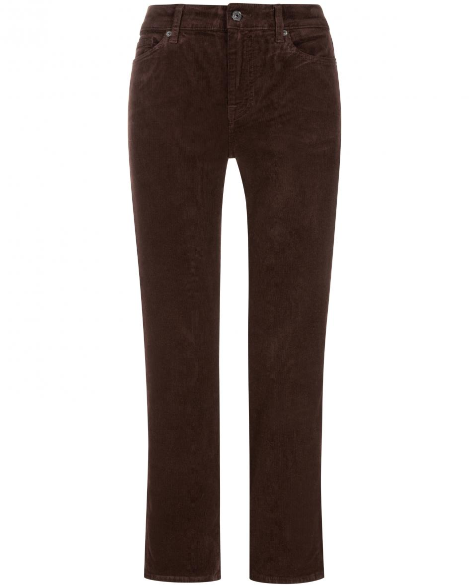 7 for all mankind - The Straight Cordhose Crop