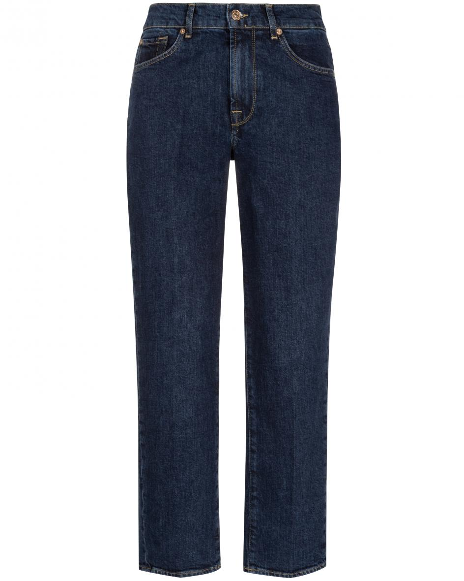 Hosen - 7 For All Mankind The Modern Straight Jeans Crop  - Onlineshop Lodenfrey