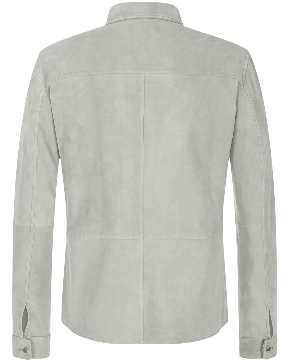 Leder-Shirtjacket 56