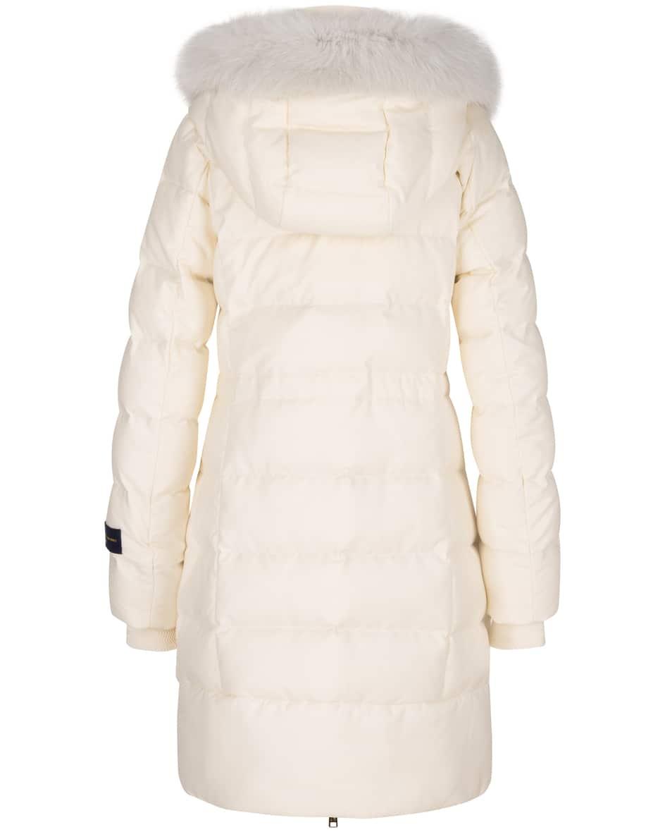 Luxury Wool Silk Daunenmantel L
