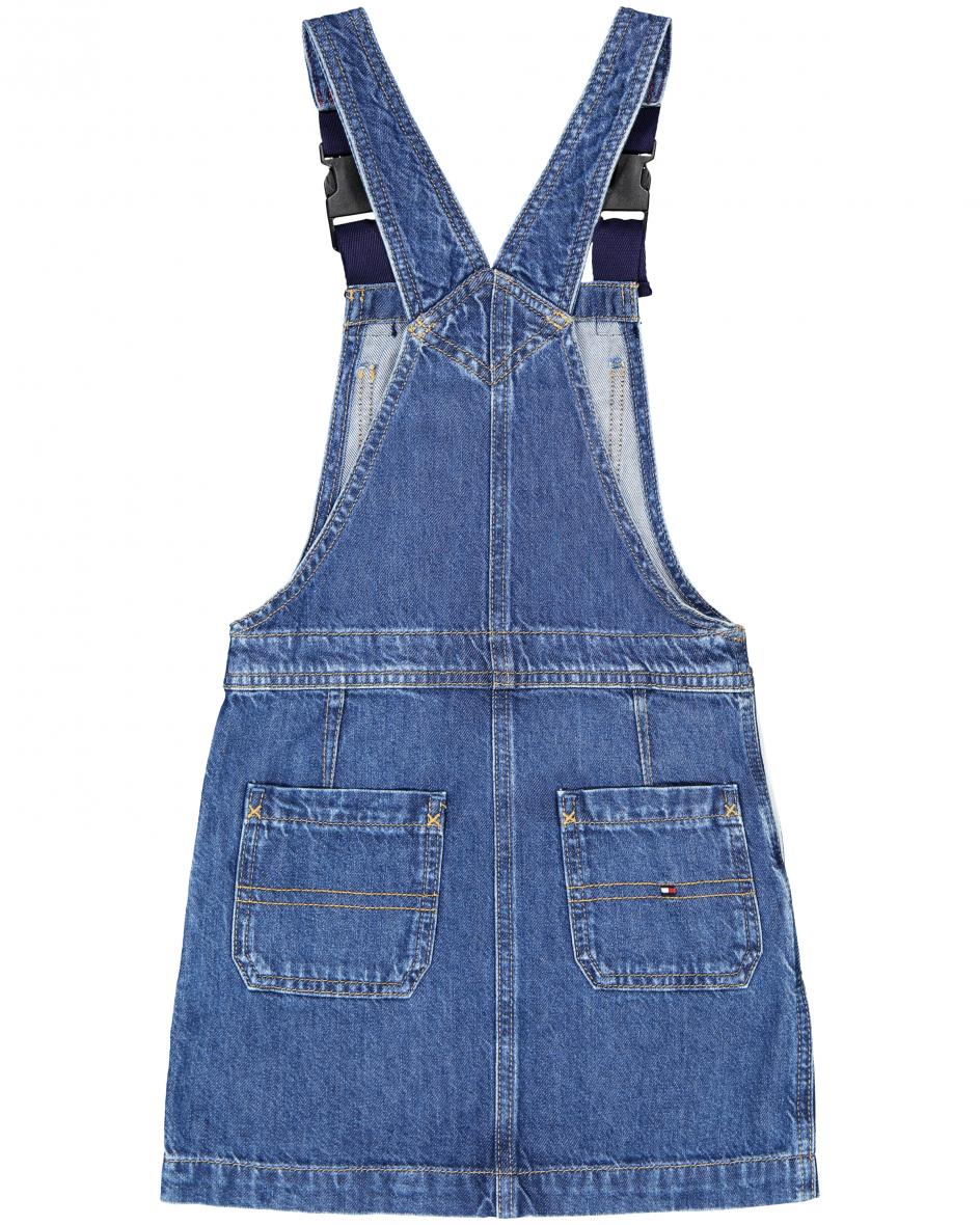 Dungaree Mädchen-Jeanskleid 176
